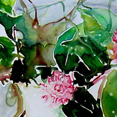 Gardenie - Aquarell
